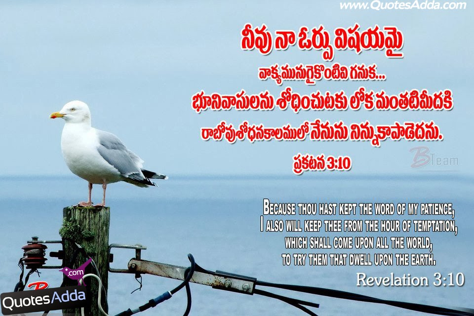 Latest New Telugu Bible Verse with Images, Telugu bible Quotes with ...