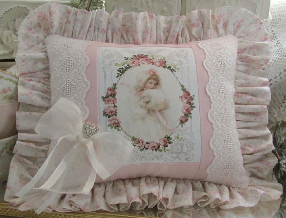 Cuscino natalizio rosa