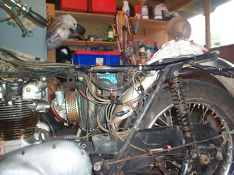 recommissioning a 1969 triumph t100c the bridge club BSA Spitfire at Bsa A65 Wiring Harness Routing