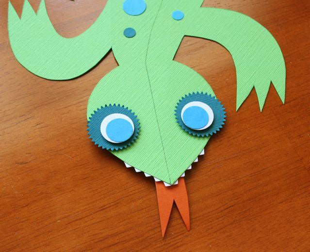 3D Paper Lizard Craft Camp Skip To My Lou