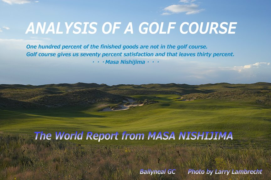 ・・・・ANALYSIS OF A GOLF COURSE・・・