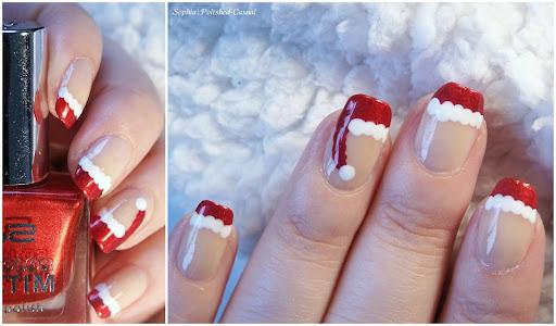 Easy Santa Claus Nail Art