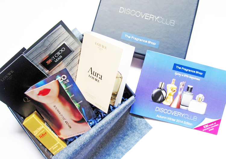 A picture of The Fragrance Shop's Discovery Club Sampler Box A/W 2014