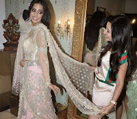 Actress Mahie Gill at Amy Billimoria's showroom