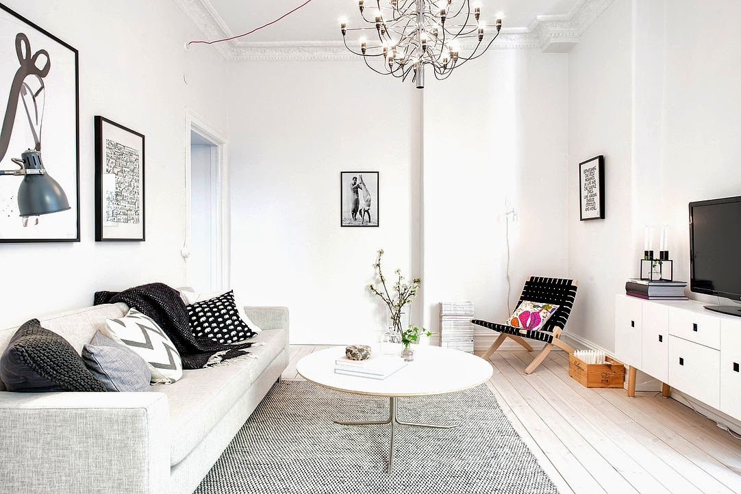 my scandinavian home swedish apartment in white and grey. Black Bedroom Furniture Sets. Home Design Ideas