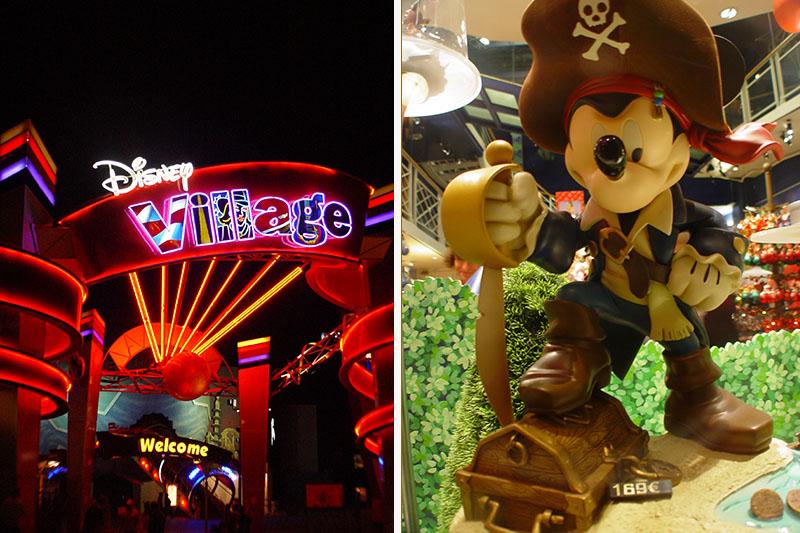Disneyland Village, Disney village