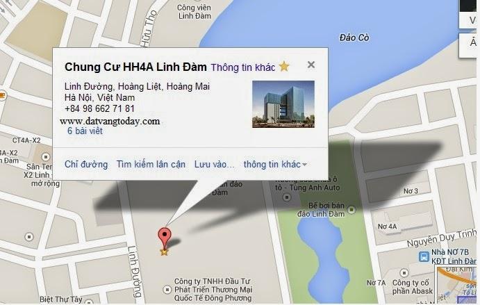 vị trí chung cư HH4 Linh Đàm