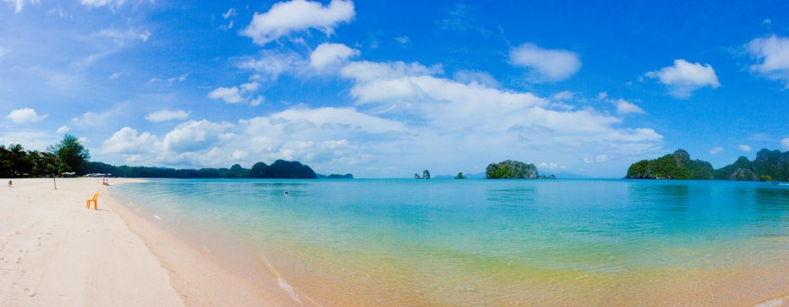 Panoramic tropical beach photos