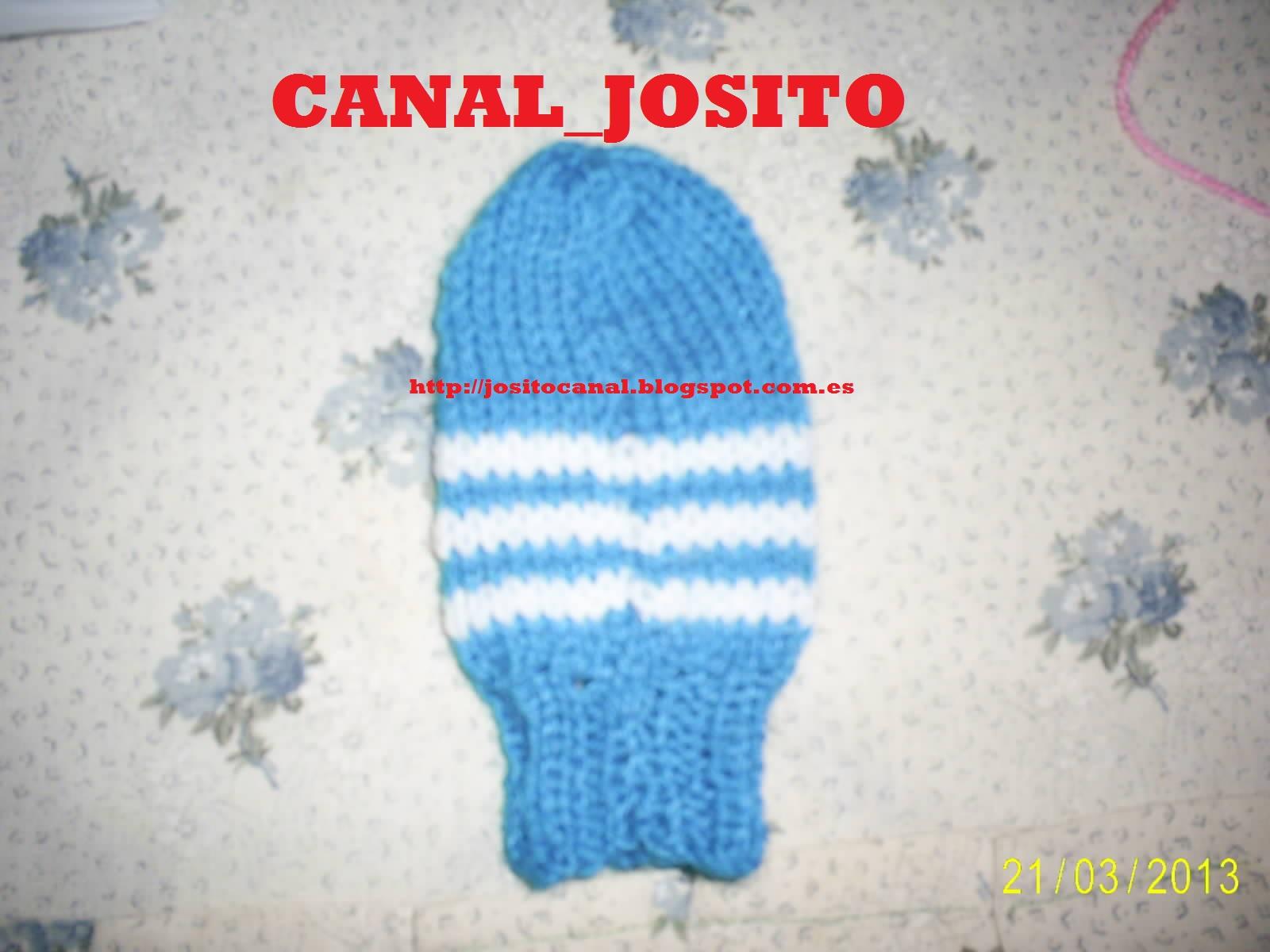 Entre cocina y tejido, el canal de Josito en youtube: Tejiendo unas ...