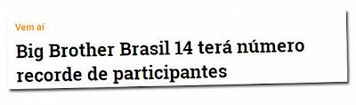 BBB14 poderá ter 20 participantes