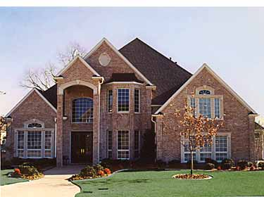 Brick laminate picture brick home plans for Luxury brick house plans