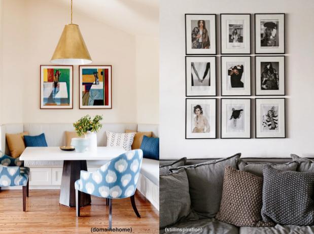 Segui decorando el blog de la trueca c mo colgar cuadros - Como colgar una manta en la pared ...