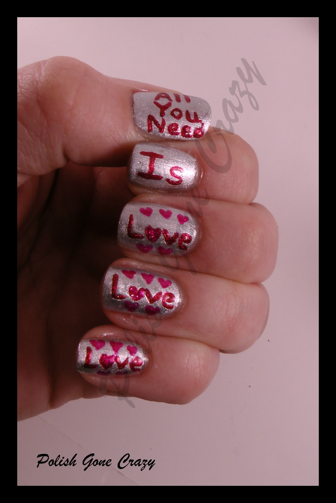 Polish Gone Crazy: Flip/Flop February Day 14 - Valentine\'s Day ...