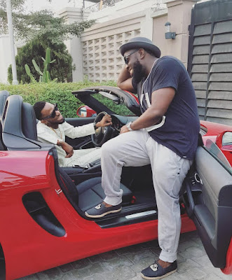 D'banj Hangs Out With Timaya With His Brand New Porshe (Photos)