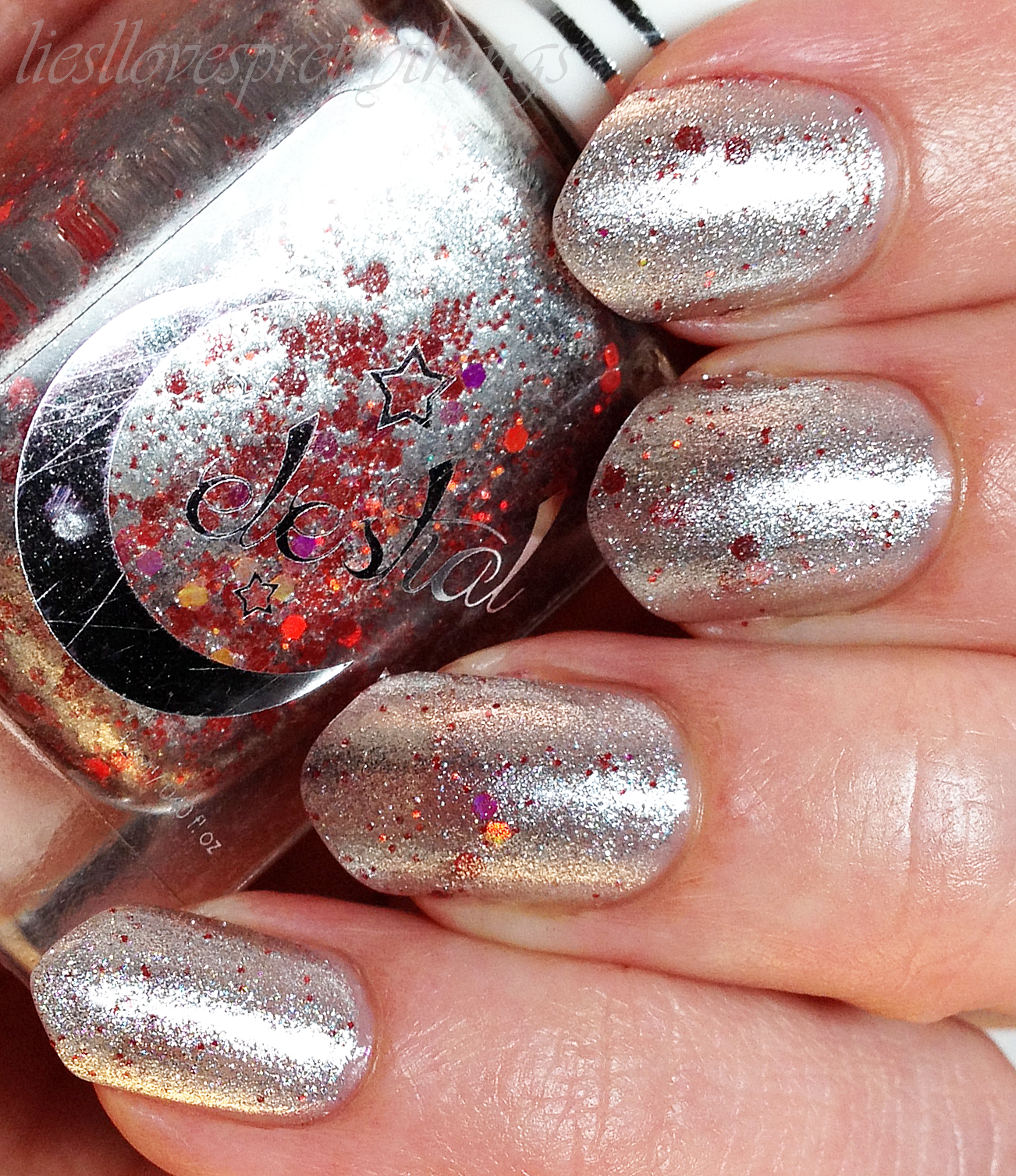 Celestial Cosmetics Chrome Amaranth swatch and review