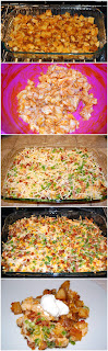 recipe for a casserole  - loaded baked potato