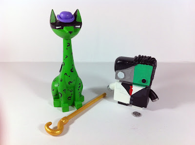 New York Comic-Con 2012 Exclusive The Jelly Empire x Argonaut Resins Batman Villains Tuttz & Jelly Bot Resin Figure Sets - Riddler & Two Face