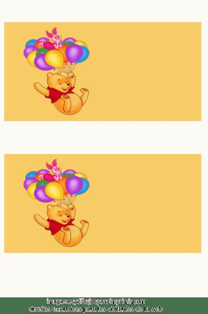 winnie de pooh para cumpleaños