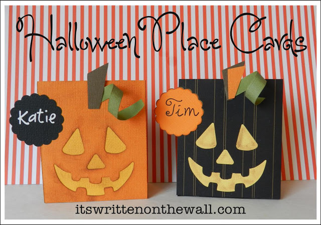 Easy Tutorial for Halloween Place Cards
