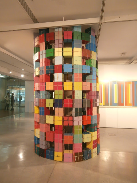 kate mackay, cube column, UTS, art, concrete, sculpture, geometric abstraction