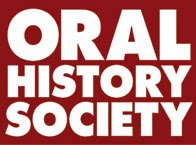 Oral History Society Logo, white writing on red background