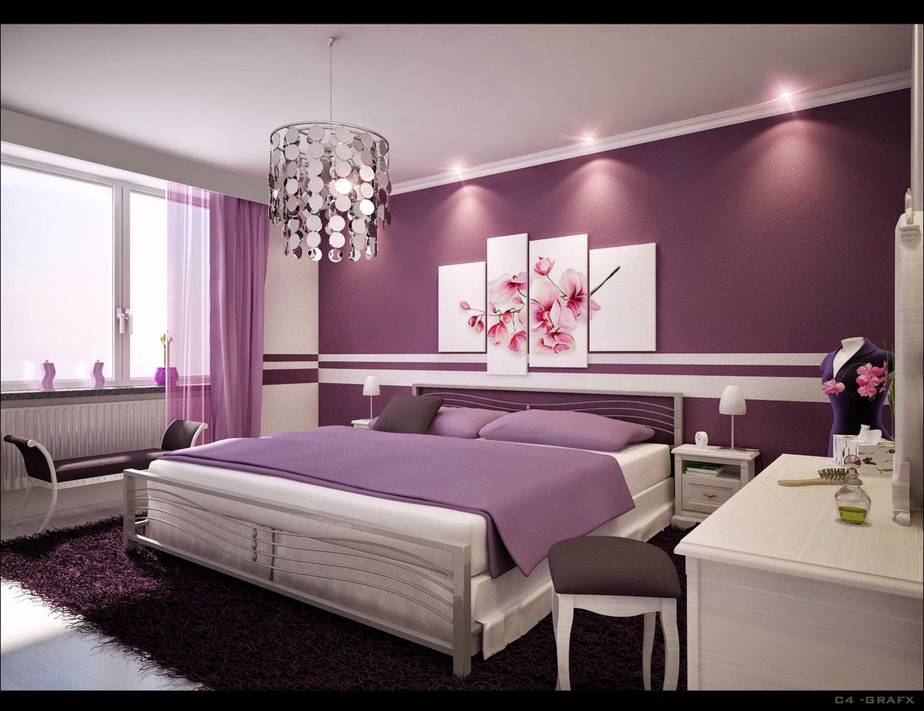 Beautiful bedroom design free download wallpaper for Stunning bedroom wallpaper
