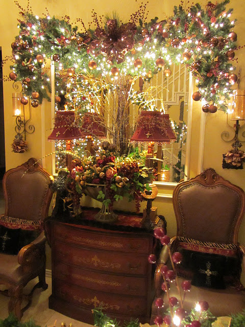 Christmas Decorating Ideas For Entry Table : Lil pink pocket december