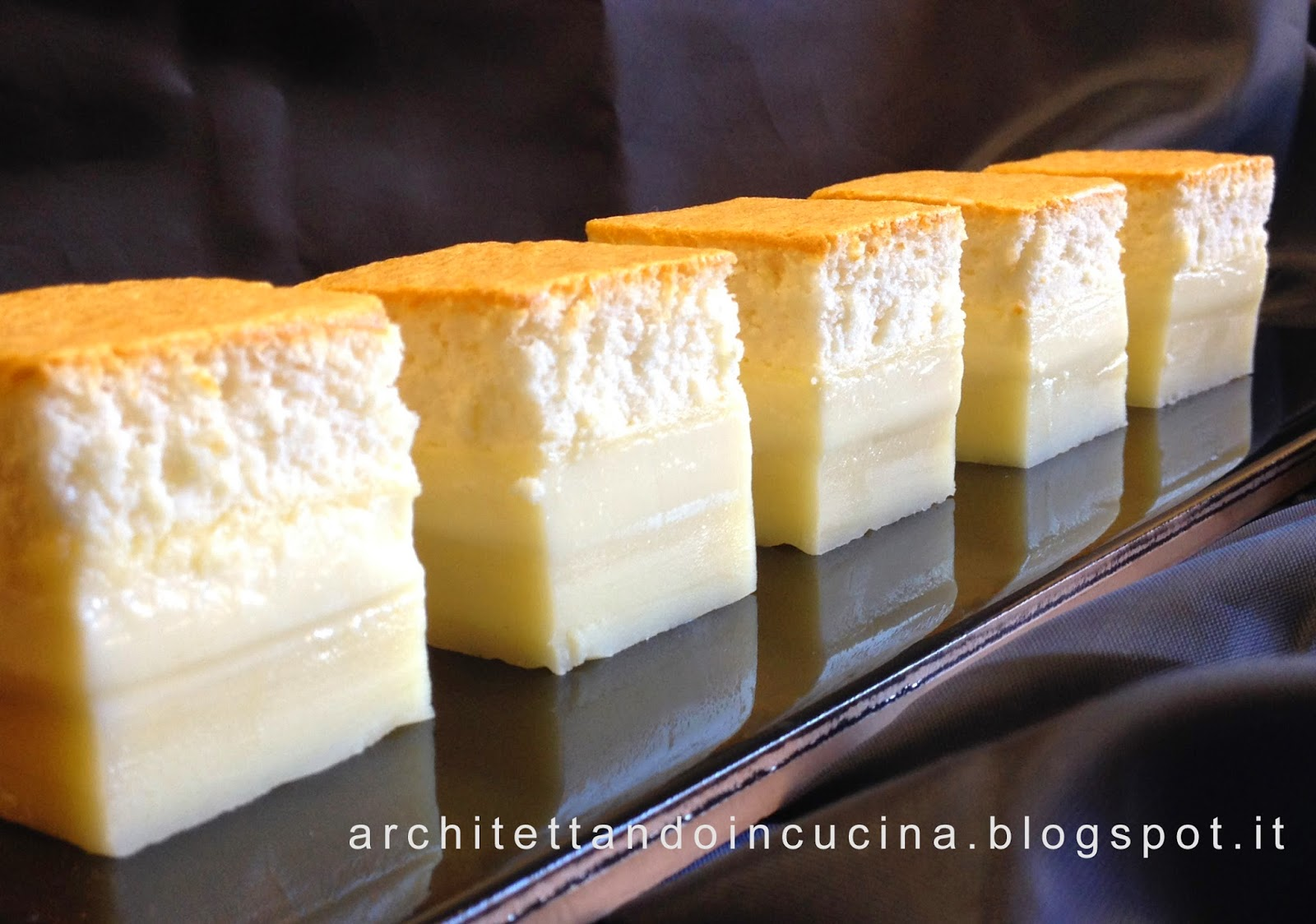 torta magica alla vaniglia - magic custard cake