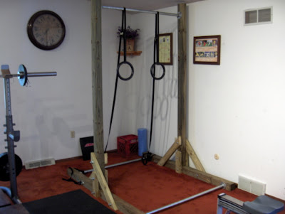 Homemade Freestanding Pull Up Bar