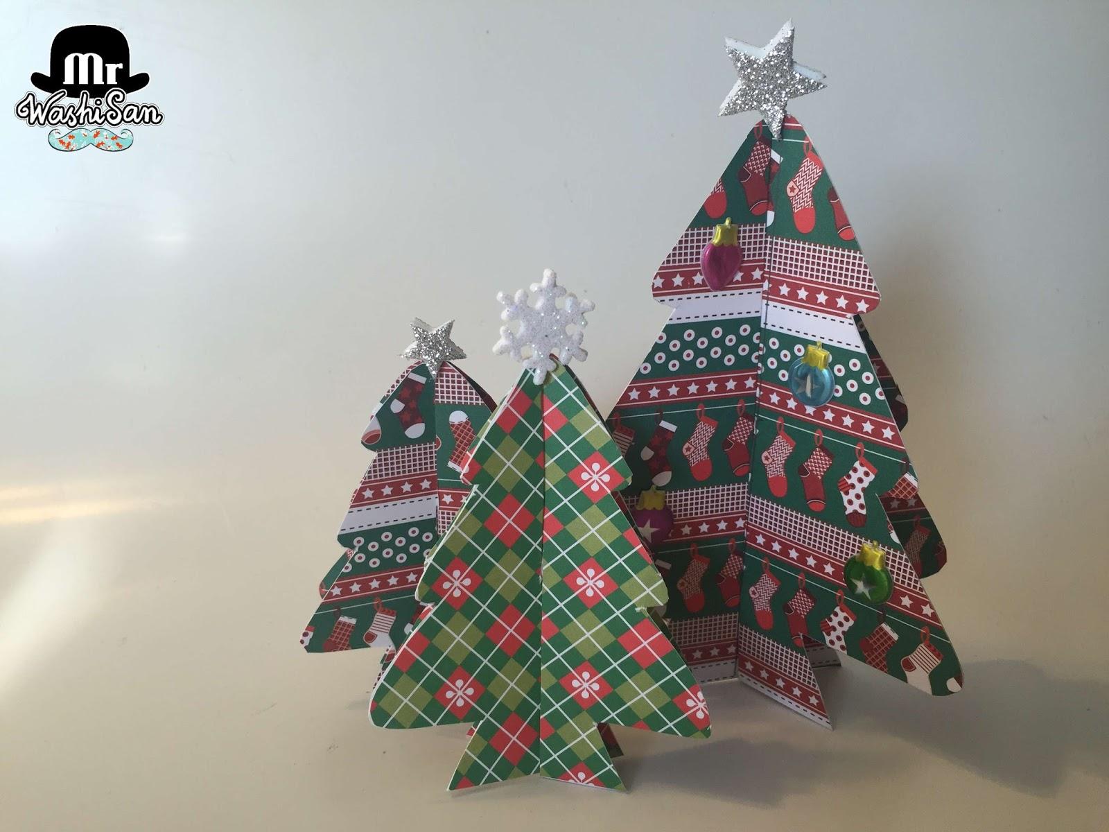 Mr washisan rboles de navidad de papel decorado - Ver arboles de navidad decorados ...