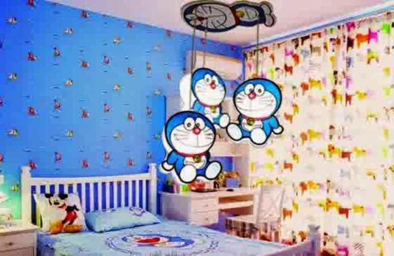 Gambar Kamar Lucu Doraemon Desain Wallpaper Dinding Kamar Doraemon