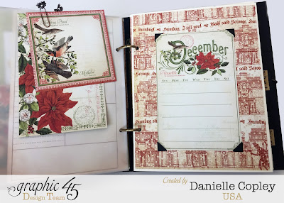 mixed media album planner using Graphic 45 Steampunk Debutante, Time to Flouish and Botanicabella