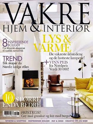 Jeg skriver også for bloggen til Vakre Hjem & Interiør