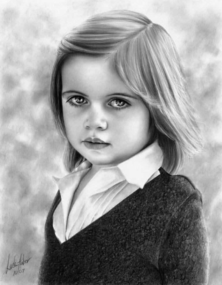 Pinturas Cuadros al Óleo: Dibujos de Niños a Lápiz, Linda Huber