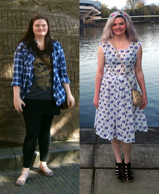Bethan before and after losing 5 stone