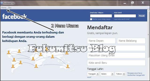 tampilan awal facebook pro
