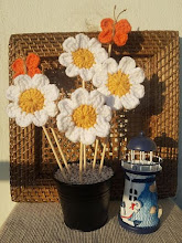 Margaritas y Mariposas crochet