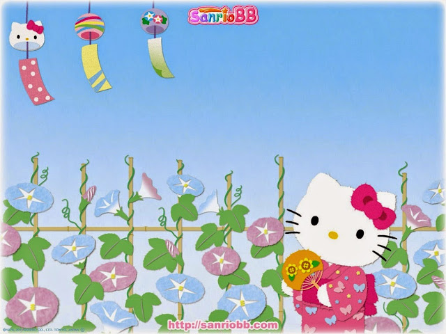 16767628-Hello Kitty Japanese Geisha In A Pink Kimono HD Wallpaperz