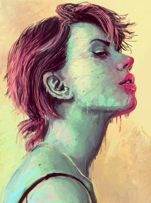 josan gonzalez ilustrações mulheres surreais macabras sensuais
