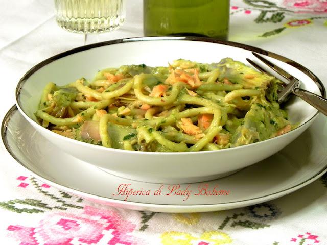 hiperica_lady_boheme_blog_di_cucina_ricette_gustose_facili_veloci_pasta_con_carciofi_e_salmone_6