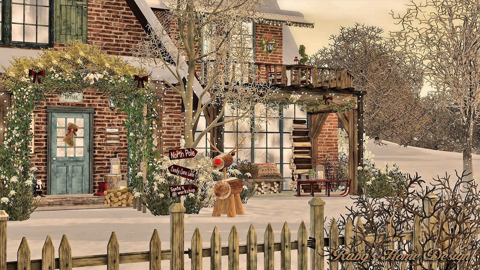 Sims3 Christmas Cottage 聖誕小屋- Ruby's Home Design