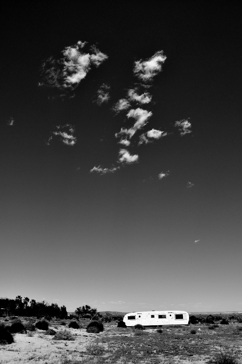 Trailer and clouds, Ocotillo; click for previous post