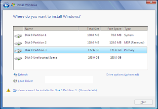 Launching the Installation of Windows 7