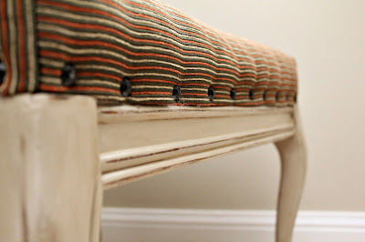 footstool nailhead trim