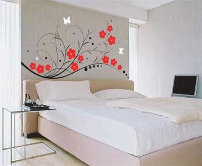 Design wallpaper kamar tidur modern