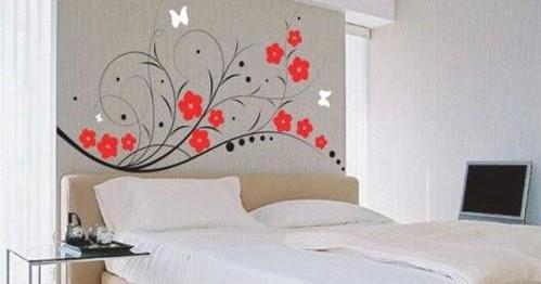 design wallpaper kamar tidur model rumah modern