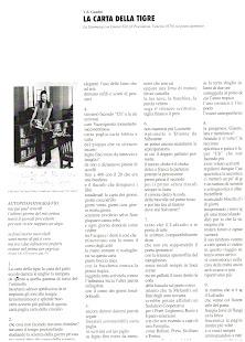 La carta della tigre, la Stimmung del febbraio 2007 con Gianni Toti sul poeta ipotimico