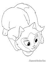 Download Lembar Mewarnai Gambar Kucing
