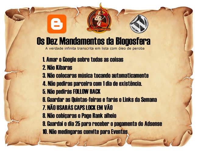 Os Dez Mandamentos da Blogosfera