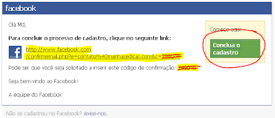 Confirmar email Facebook